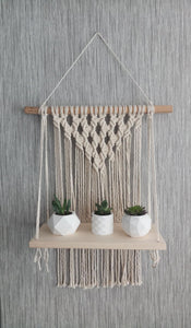 Serenity macrame shelf