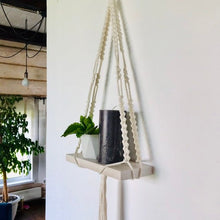 Load image into Gallery viewer, Simple macrame shelf