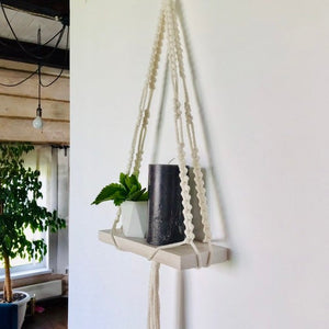 Simple macrame shelf
