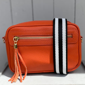 Bag Strap Black & White Stripe