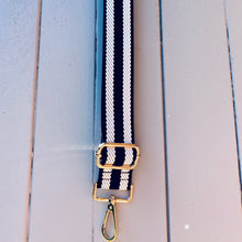 Load image into Gallery viewer, Bag Strap Black & White Stripe