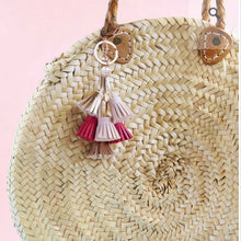 Load image into Gallery viewer, Dream Odyssey Pink Tassels Keyring