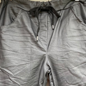 Coated Trousers - Grey