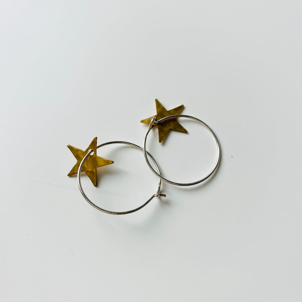 Silver Star And Copper Hoops