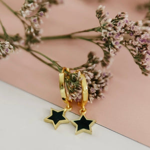 Mini Enamel Star Huggies