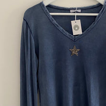 Load image into Gallery viewer, Glitter Star Long Sleeve T-Shirt