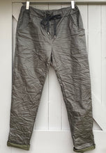 Load image into Gallery viewer, Coated Trousers   - Khaki