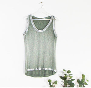 Silver Edged Vest Top
