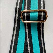Load image into Gallery viewer, Bag Strap Turquoise Silver Stripe