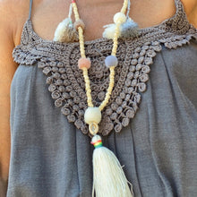 Load image into Gallery viewer, Pom Pom Tassel Beaded Long Necklace