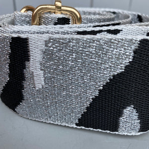Bag Strap Silver Camouflage