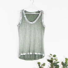 Load image into Gallery viewer, Silver Edged Vest Top