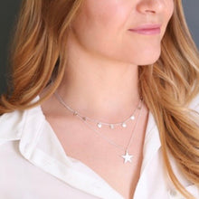 Load image into Gallery viewer, Double Layer Silver Star Necklace