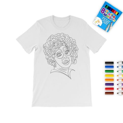 Holly Stars - Colour In Colouring T-Shirt