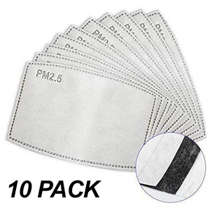 Face Mask -  Activated Carbon Filter 10 Pack