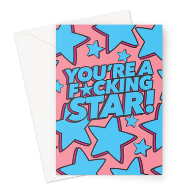 F*cking Star Greeting Card