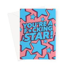 Load image into Gallery viewer, F*cking Star Greeting Card