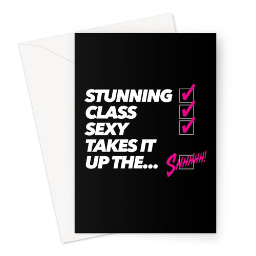Stunning Class Sexy Greeting Card