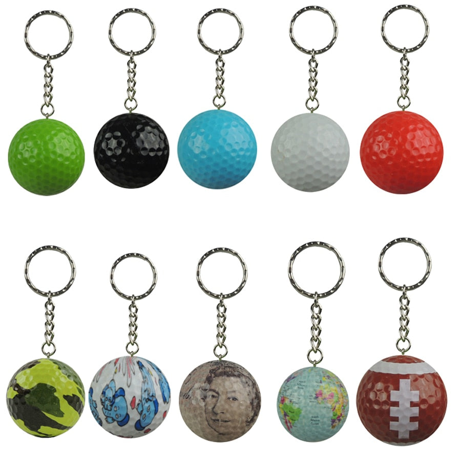 Golf ball with keychain sports gift