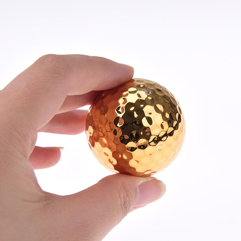 Fancy Gold Plated Golf Ball