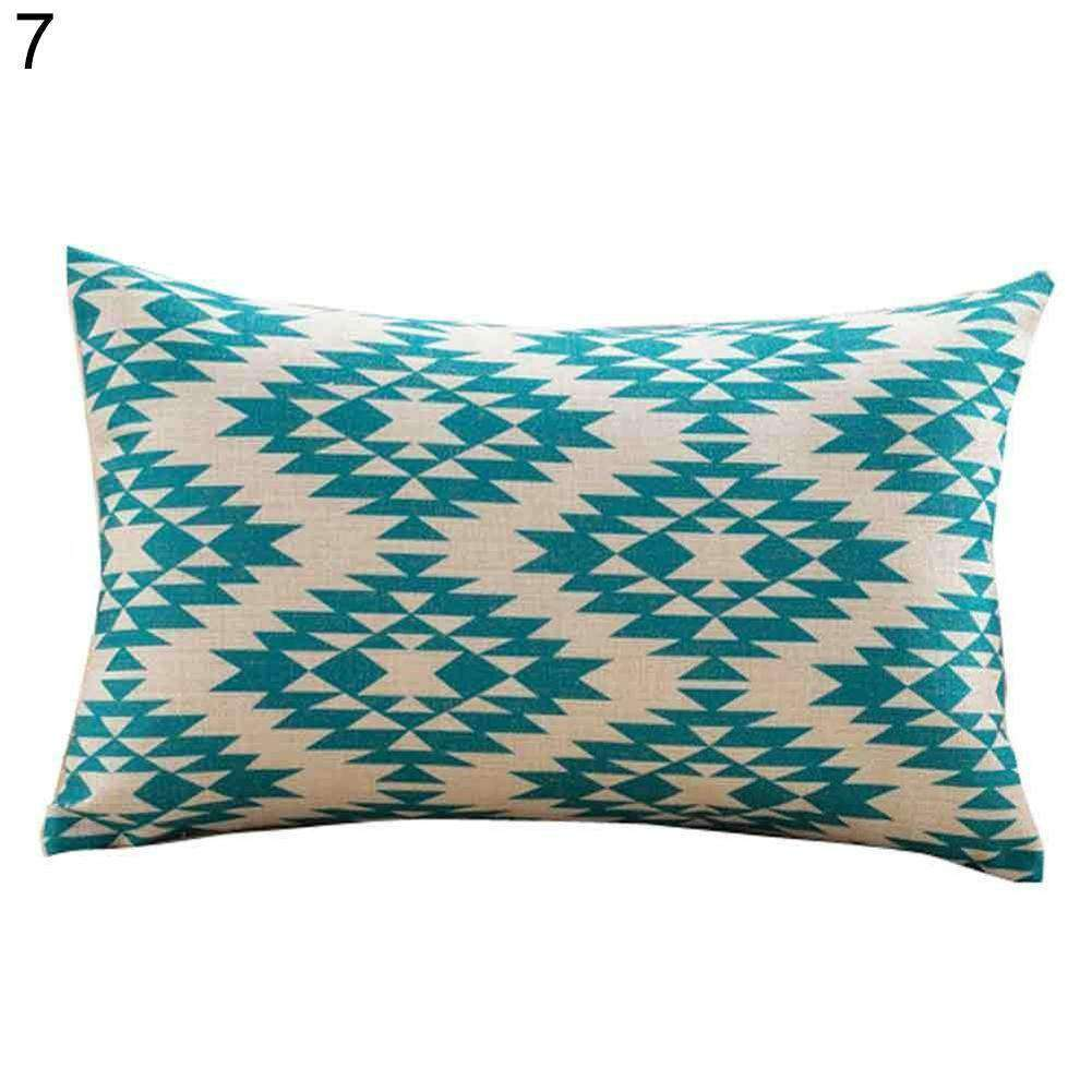 Home Bed Sofa Decor Bird Leaf Wave Geometric Print Pillow Case Cushion Cover - Nyrod Network- Nyrod