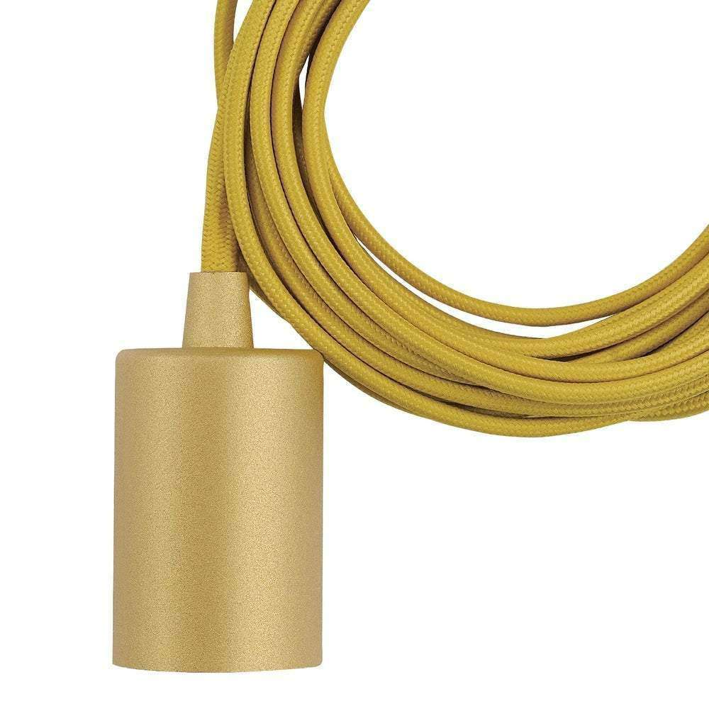 Emile 1-Light Mellow Yellow Plug-In Exposed Socket Pendant - Emile- Nyrod