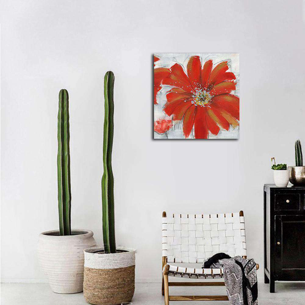qiaojiahuayuan/13 YH-T19/canvas/Printed picture/Abstract plant safflower - Nyrod Network- Nyrod