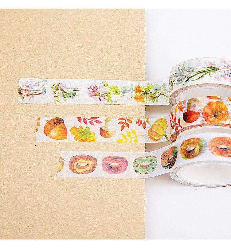 15mm*7m Cute Flowers Washi Tape Stickers - Hauyne- Nyrod