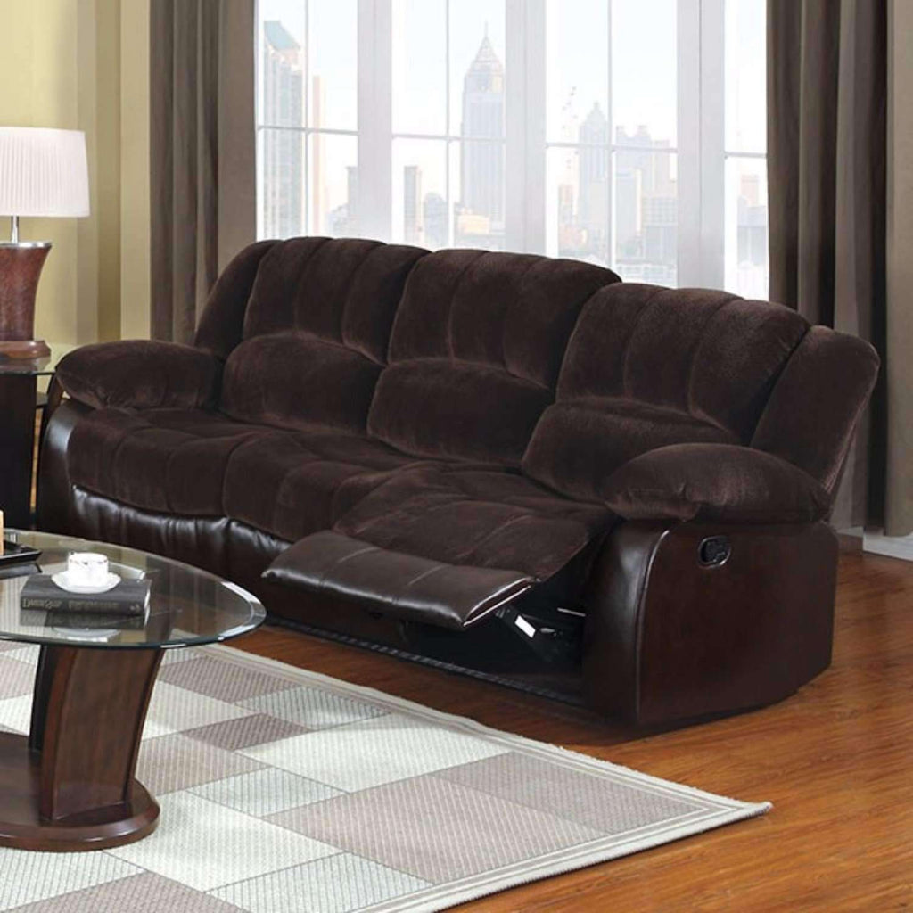 Sophisticated Champion Leatherette Sofa, Brown - Nyrod Network- Nyrod