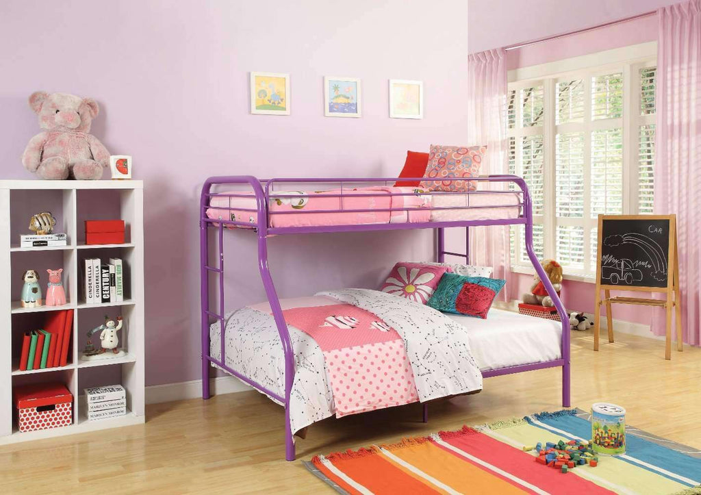 Twin/Full Bunk Bed, Purple - Nyrod Network- Nyrod