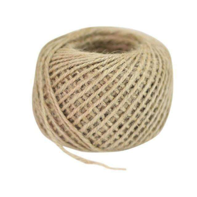 50M Natural Brown Jute String Line Classic Party - Plum Coco- Nyrod