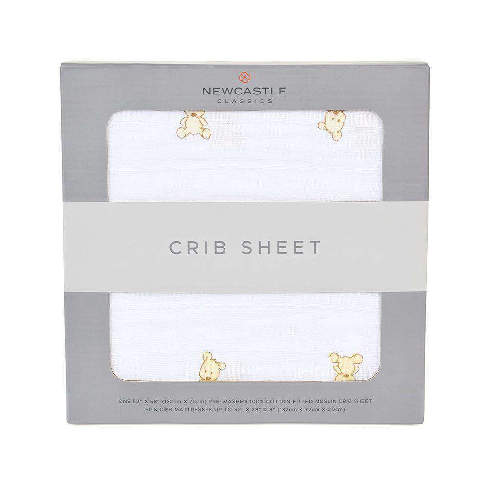 Teddy Bear Crib Sheet - Lavender Charlie- Nyrod