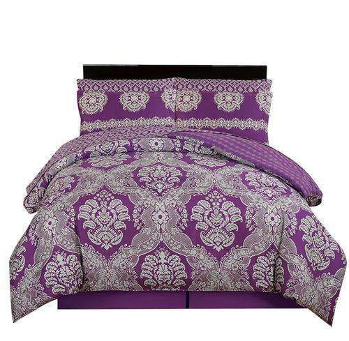 Couture Home Collection Vibrant Luxurious Damask - Silver Sand Brier- Nyrod
