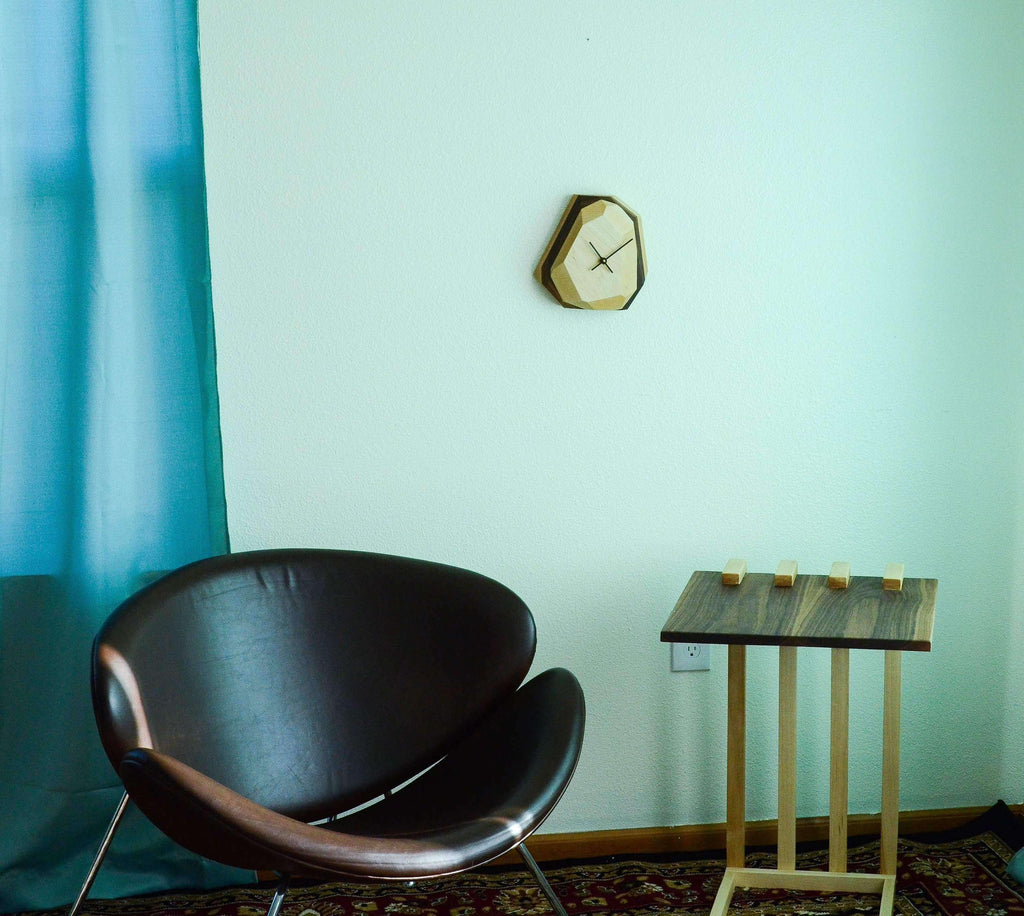 Geometric Wall & Table Clock - THE IRON ROOTS DESIGNS- Nyrod