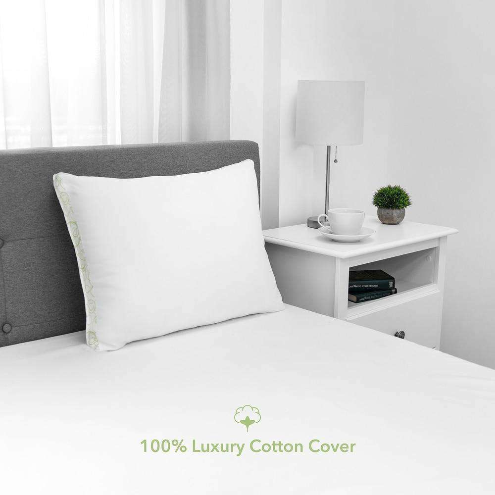 Density Standard Bed Pillow with Cotton Cover - EcoPEDIC- Nyrod