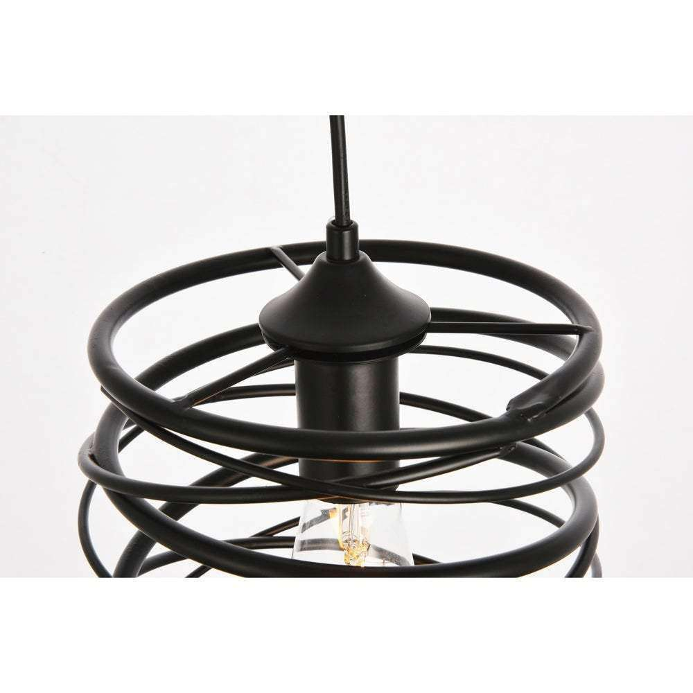 Hopper Collection Pendant D7.9 H11.8 Lt:1 Black Finish - Hopper Collection- Nyrod