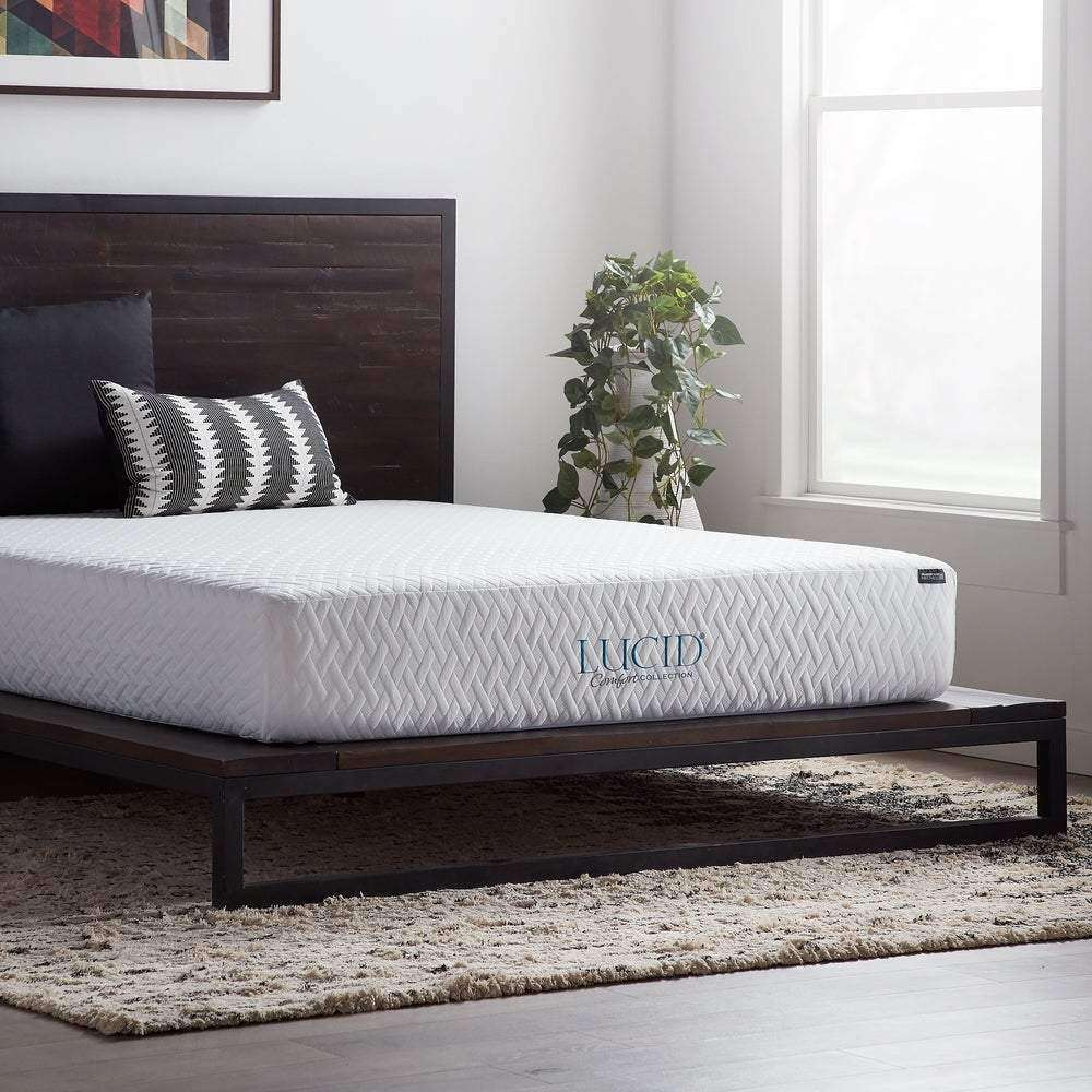 10-Inch LUCID Comfort Collection Mattress - Lucid Comfort Collection- Nyrod