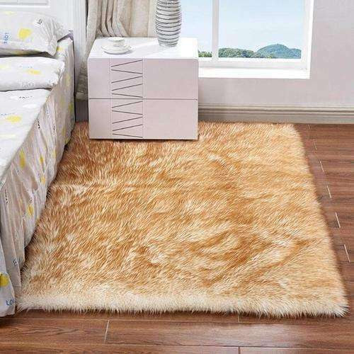 Living Room Bedroom Plush Rug Ultra Soft Rectangle - Orange Iolaus- Nyrod