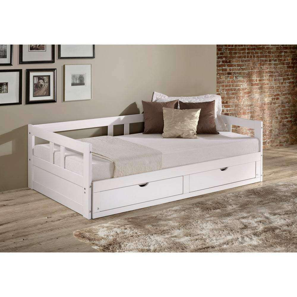 Melody Expandable Twin to King Trundle Daybed with Storage Drawers - Nyrod Network- Nyrod