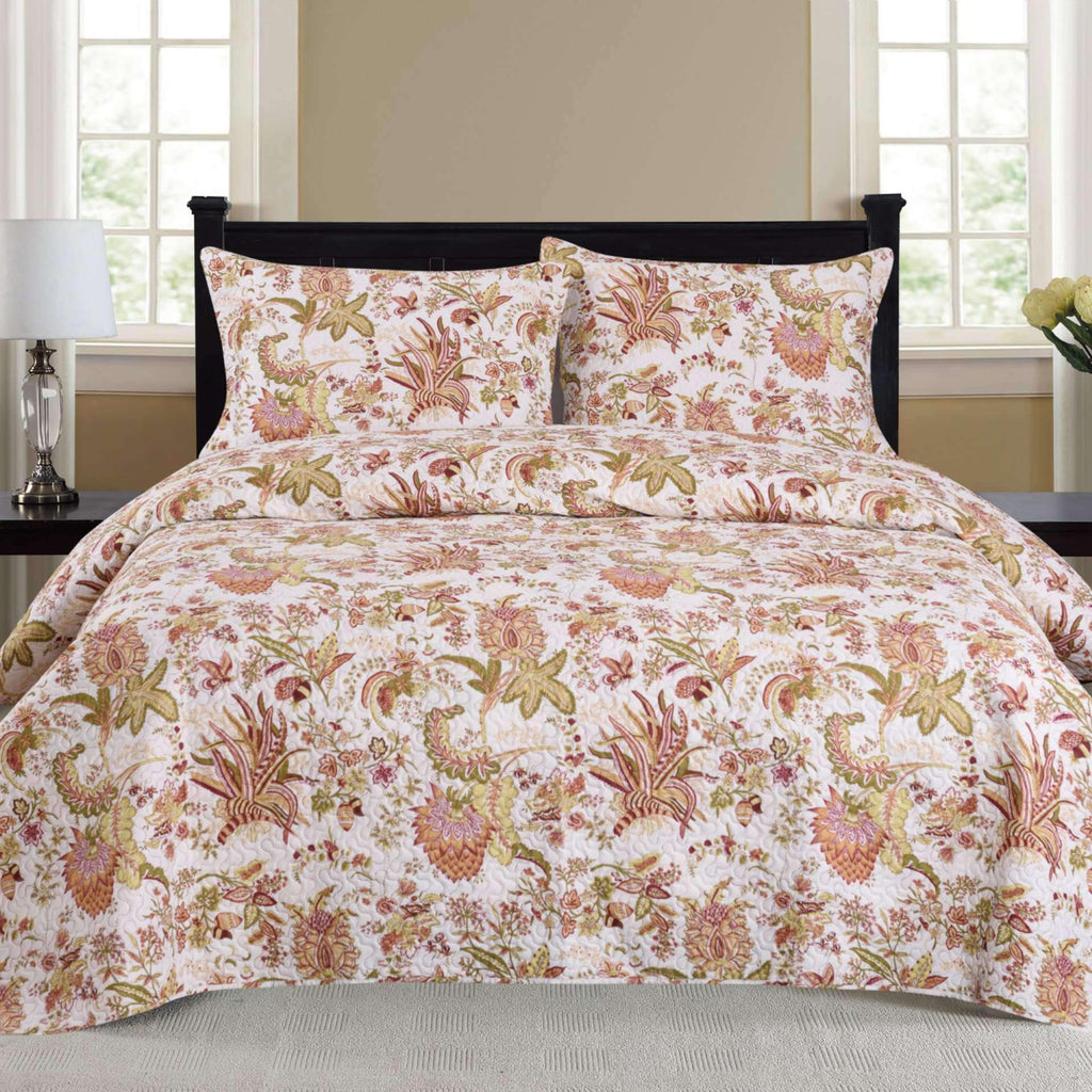 Nikki - 3 Piece Quilt Set - Multi - Nyrod Network- Nyrod