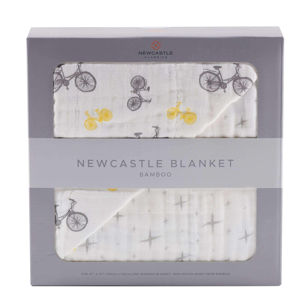 Vintage Bicycle and Northern Star Newcastle Blanket - Lavender Charlie- Nyrod