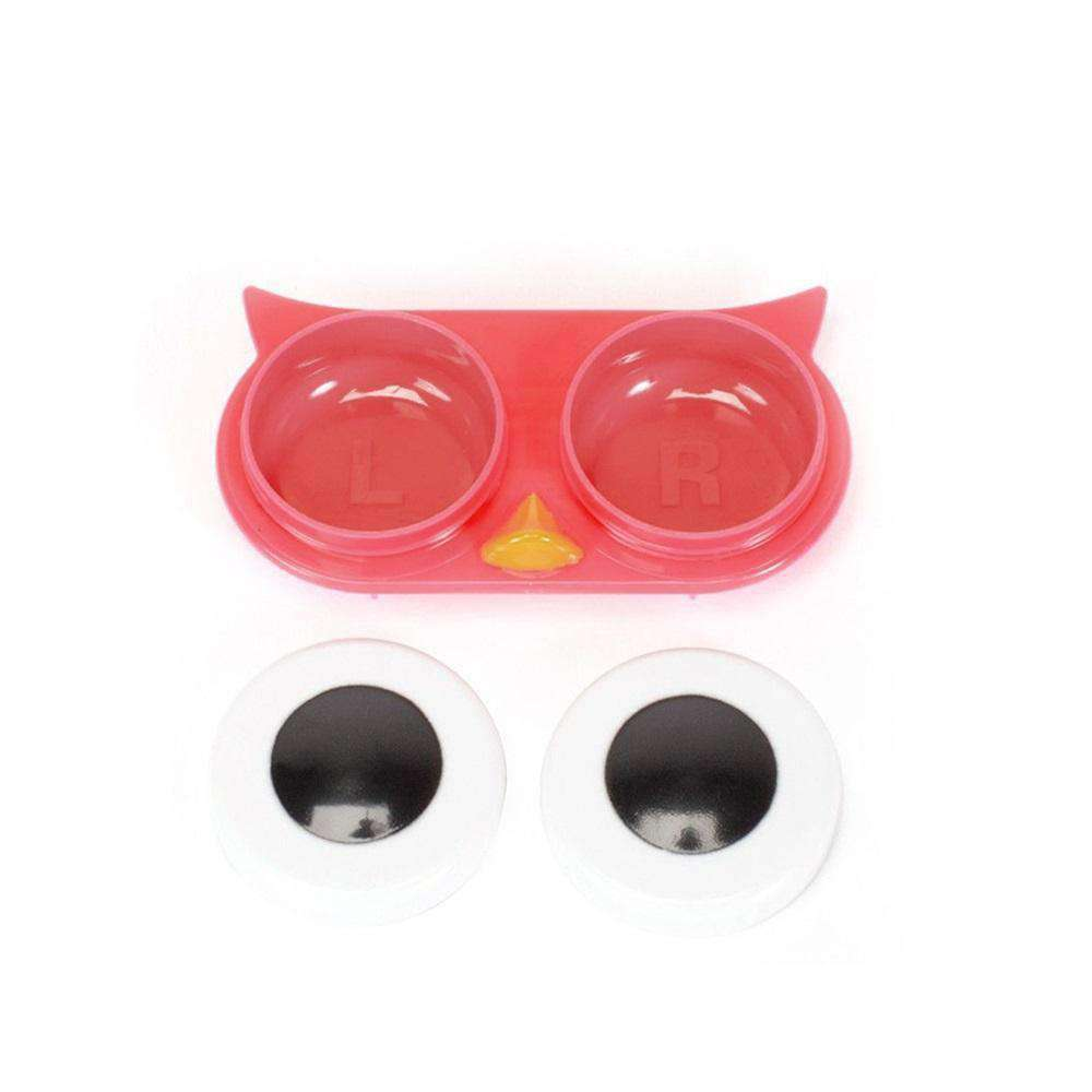 OH Fashion Contact Lens Case Owl Light Red - Pink Hector- Nyrod