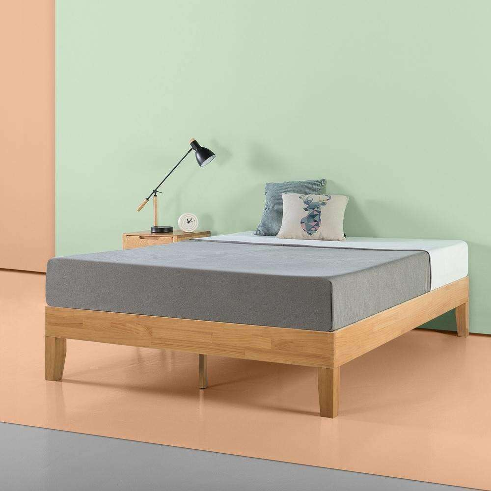 Priage by Zinus 14 Inch Deluxe Solid Wood Platform Bed - Zinus- Nyrod