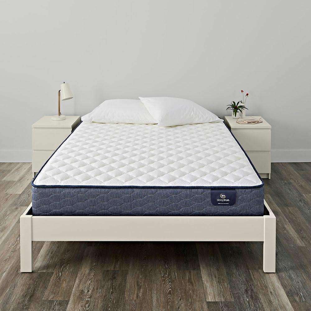 Serta SleepTrue 10-inch Carrollton Firm Innerspring Mattress Set - Serta- Nyrod