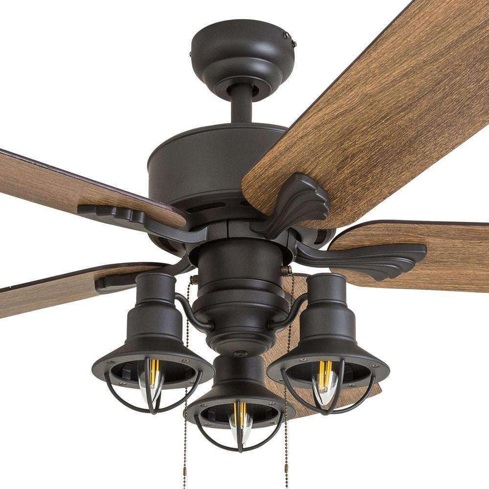 Stormy Grain 52-inch Aged Bronze LED Ceiling Fan - The Gray Barn- Nyrod