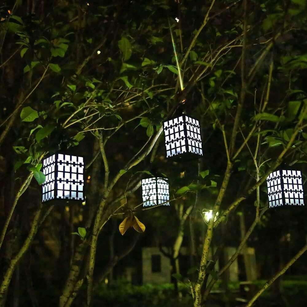Waterproof Solar Garden Lights, Solar Powered LED Hanging Lantern Outdoor Lights (Pack of 2) - MyFun Corp- Nyrod