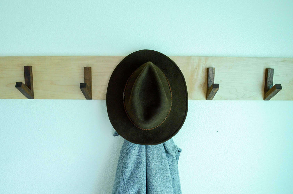 Modern Coat & Hat Rack - THE IRON ROOTS DESIGNS- Nyrod
