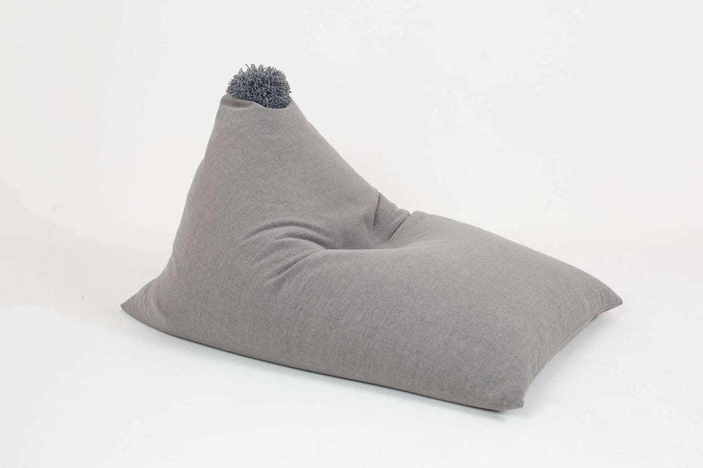 light GRAY sewn bean bag with WOOLEN BUBBLE - Plum Eurybia- Nyrod