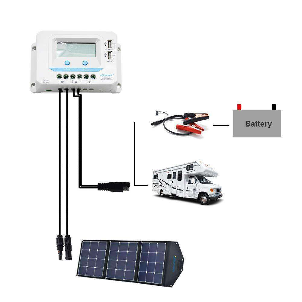 ACOPOWER 20A LCD Charge Controller With Accessories - ACOSolar Inc- Nyrod