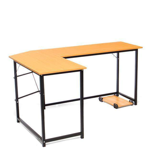 Wooden Office L-Shape Corner Laptop Table - Nyrod- Nyrod